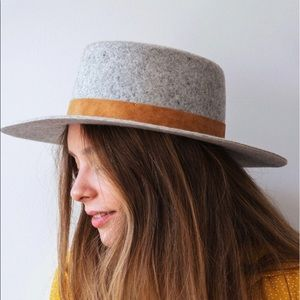 Urban Outfitters felt boater hat